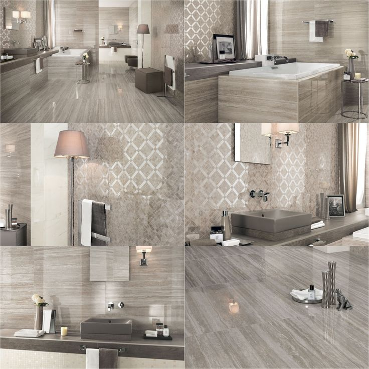 MARVEL PRO Collection wall and floor marble-look surfaces. Residential bathroom project by Ceramiche Atlas Concorde.