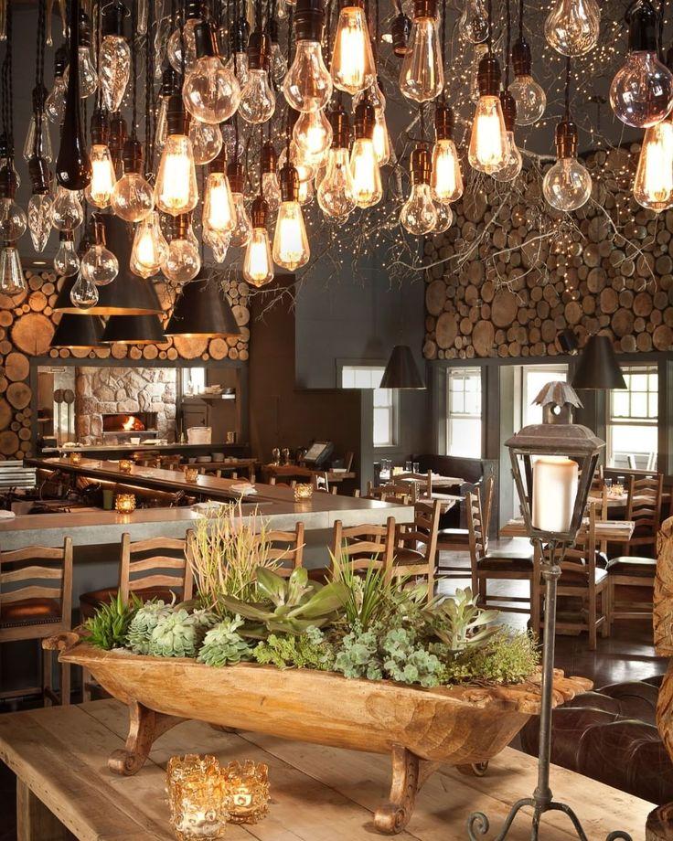 Rustic Ceiling Light Fixtures And Pendant Ideas Rustic Home Decor And Design Ideas Rustic Restaurant Restaurant Design Rustic Rustic Restaurant Interior