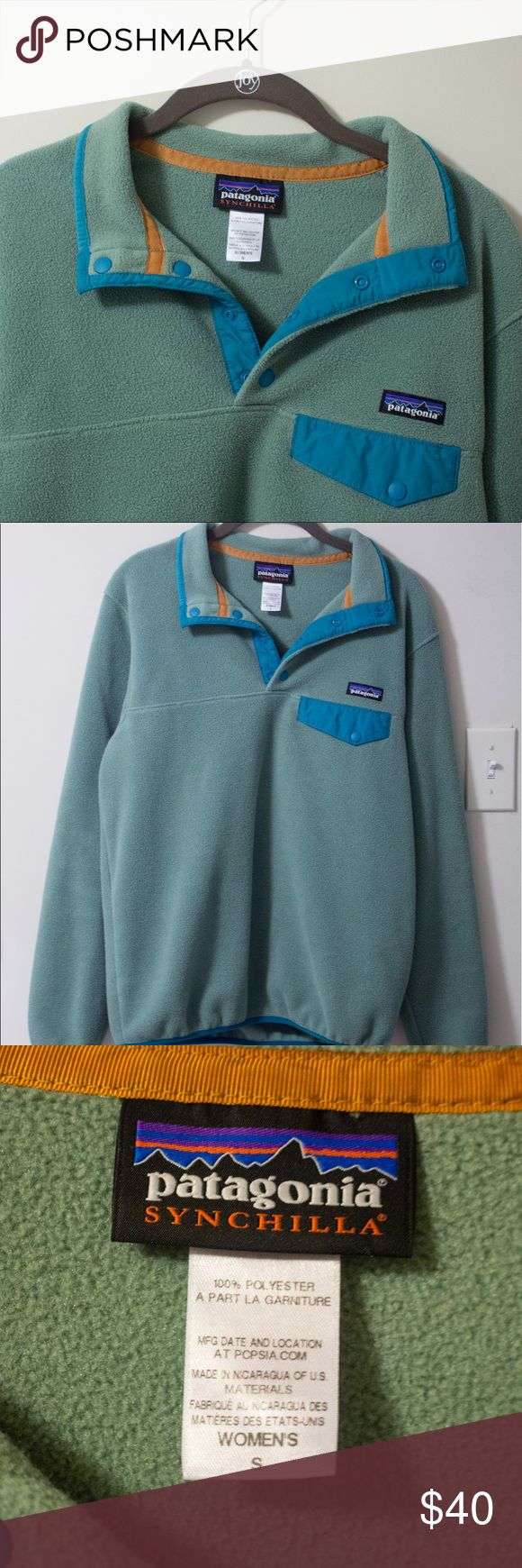 Patagonia Lightweight Synchilla Snap-T Pullover Small, light green fleece Patagonia pullover. Hardly worn, great condition. Patagonia Jackets & Coats