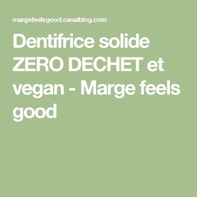 Dentifrice solide ZERO DECHET et vegan - Marge feels good
