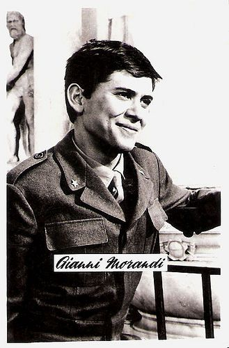 Gianni Morandi. Yugoslavian collectors card.