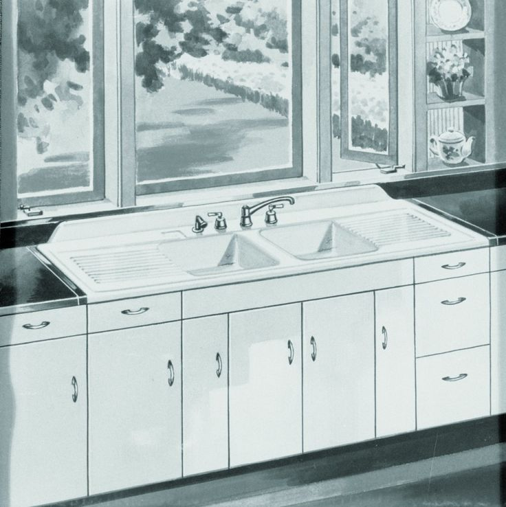 Kitchen:Farmhouse Drainboard Sinks   Retro Renovation Vintage Kitchen Sinks 1920's Antique Retro Kitchen Faucets and Sinks Ideas For New Vin...