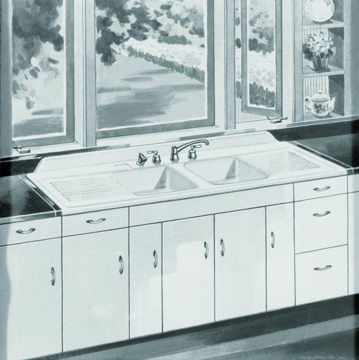Kitchen:Farmhouse Drainboard Sinks   Retro Renovation Vintage Kitchen Sinks 1920's Antique Retro Kitchen Faucets and Sinks Ideas For New Vin...
