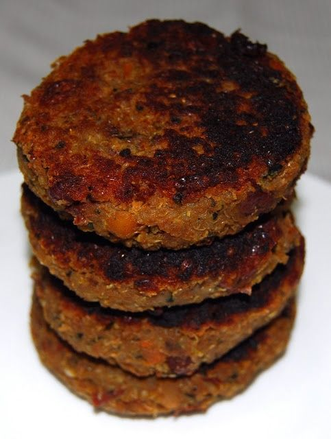 Holy Cow!: Quinoa and Bean Burger:   Great-to-Grill Vegan Recipes. I will never fully give up meat, but this might be   another alternative sometimes?