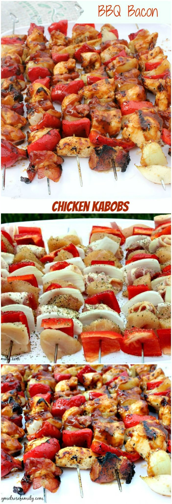 BBQ BACON Chicken Kabobs