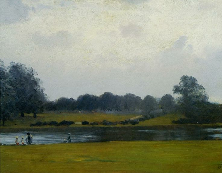 Giuseppe De Nittis (Italian 1846–1884) [Impressionism, Salon] The Serpentine Hyde Park.