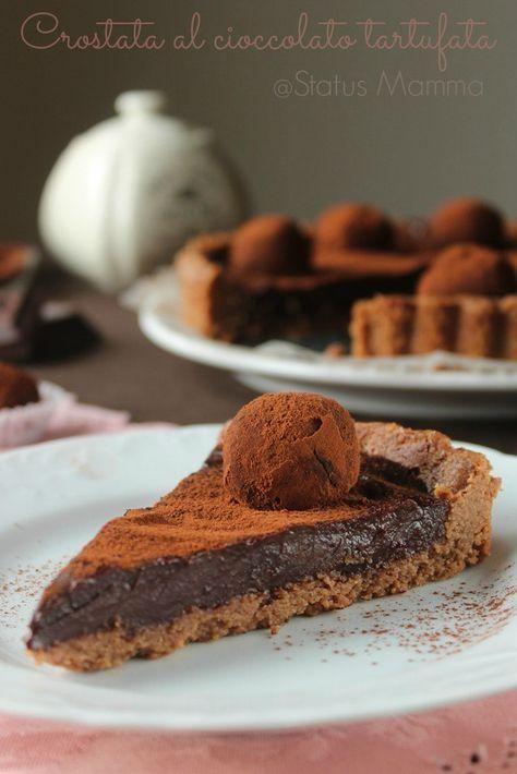 Crostata al cioccolato tartufata | Status mamma