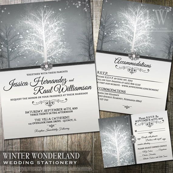 Hey, I found this really awesome Etsy listing at https://www.etsy.com/listing/165973511/winter-wonderland-wedding-invitation