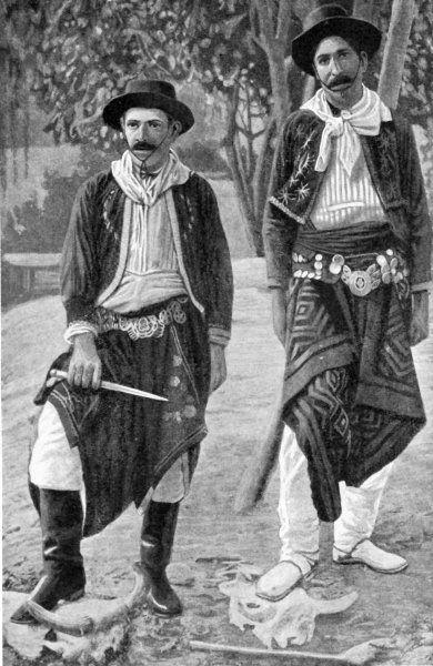 Argentine Gauchos in Traditional Costume c1935
