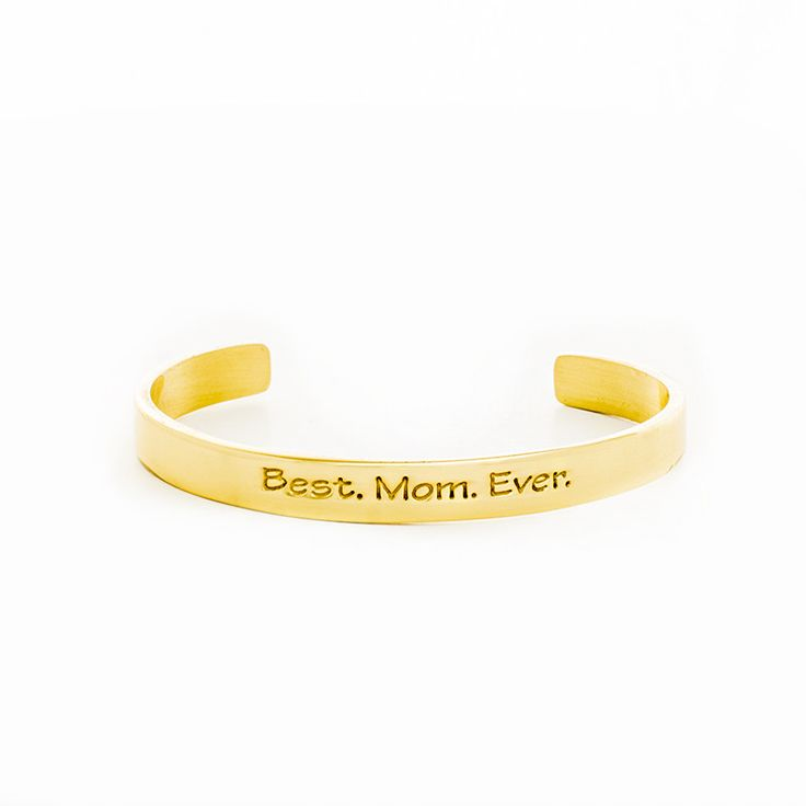 ".25"" Mom Quote Best Mom Ever - Gold"