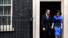 UK election results: David Cameron pledges a 'greater Britain'  David Cameron and his wife Samantha outside Downing Street