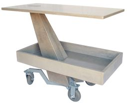 "Concrete Bar Cart: Modern serving cart Carbon fiber reinforced concrete with double gravity joint Suitable indoor and outdoor . Measurements: 46"" W x 23"" D x 33"" H"" material=""Carbon fiber reinforced concrete"" origin=""United States"""