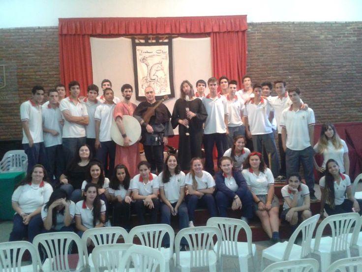 Luego de un concierto didactico en el Instituto Zona Oeste de Rosario 2013