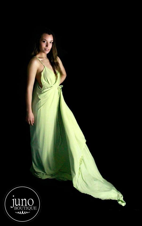 The Venus Gown Lime Jersey Knit Wrap Dress $80NZD+Post https://www.facebook.com/media/set/?set=a.956094847740444.1073741828.935769833106279&type=3