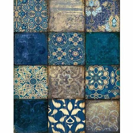 12 Panel Abstract Textured Pattern Squares Blue Canvas Art by Pied Piper Creative - Walmart.com