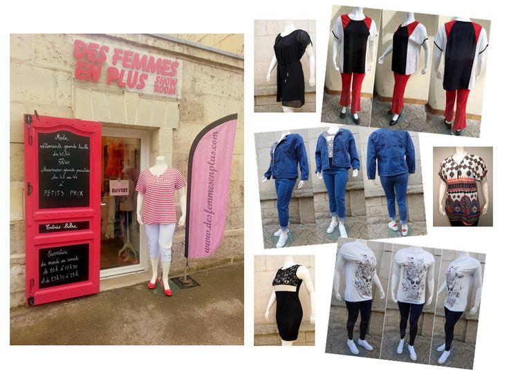 le show-room desfemmesenplus.com Vêtements Chaussures Femme Grande Taille au 1 rue Racine (rond-point du Vase) à Soissons(02) du mardi au samedi de 10h à 12h30 et de 13h30 à 19h - 03 23 54 77 08