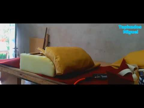 Tapizado de sillon doble - YouTube