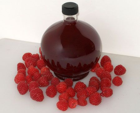Raspberry Liqueur Recipe - Make it sugar-free by swapping the sugar for erythritol.
