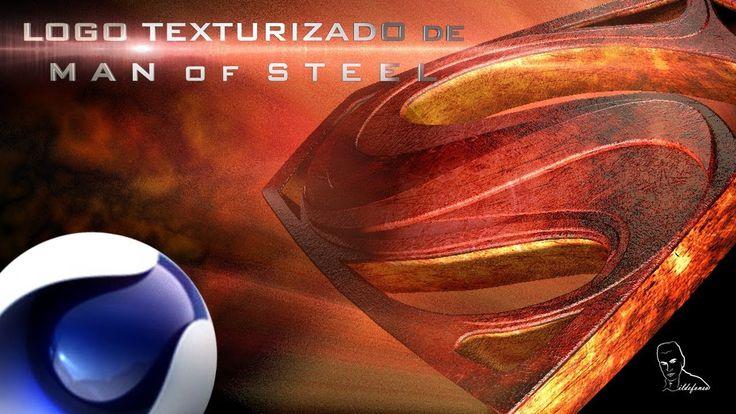 Tutorial Cinema4D: Crear, texturizar y animar logo Man of Steel (Superman) por @ildefonsosegura - YouTube