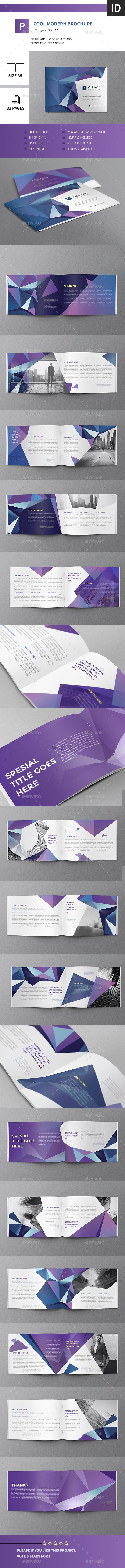 Cool Modern Brochure 32 Pages A5 Horizontal Template InDesign INDD #design Download: http://graphicriver.net/item/cool-modern-brochure-32-pages-a5-horizontal/13653304?ref=ksioks