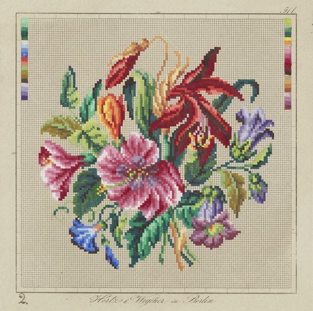 Needlework pattern | Collections Online - Museum of New Zealand Te Papa Tongarewa