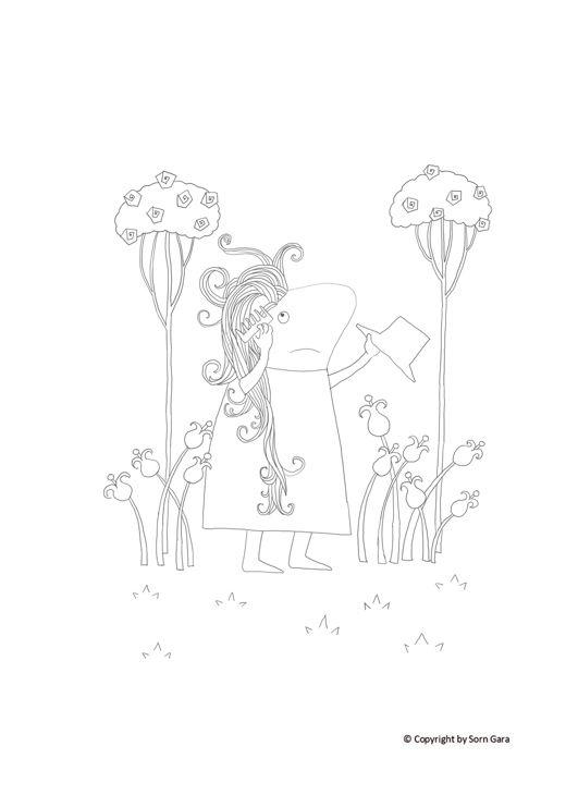 """Karta kolorowanki do książki """"Pan Toti i sprawa fryzury"""". (wyrażam zgodę na pobranie i drukowanie na własny użytek). https://www.facebook.com/dladzieciPanToti/"""