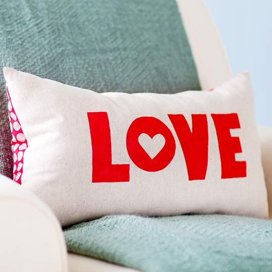 What's not to love about this Valentine's Day pillow?