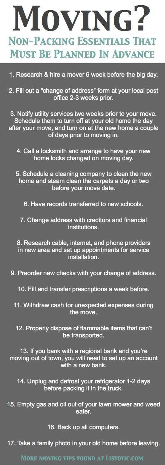 33+ helpful #moving #tips everyone should know! #checklist