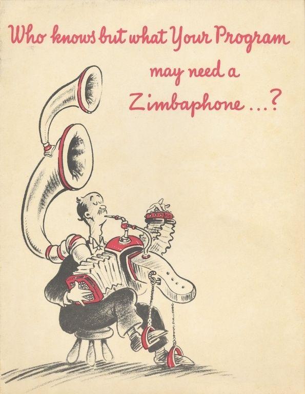 Dr. Seuss's art pre-Dr. Seuss. (He was an advertiser.)