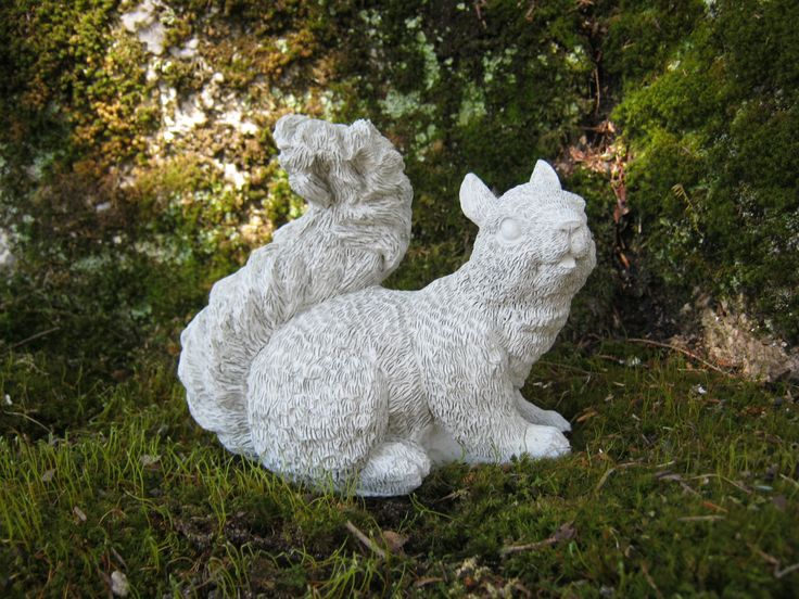squirrel statue concrete squirrel figure squirrel garden decor concrete garden statues cement - Concrete Garden Decor