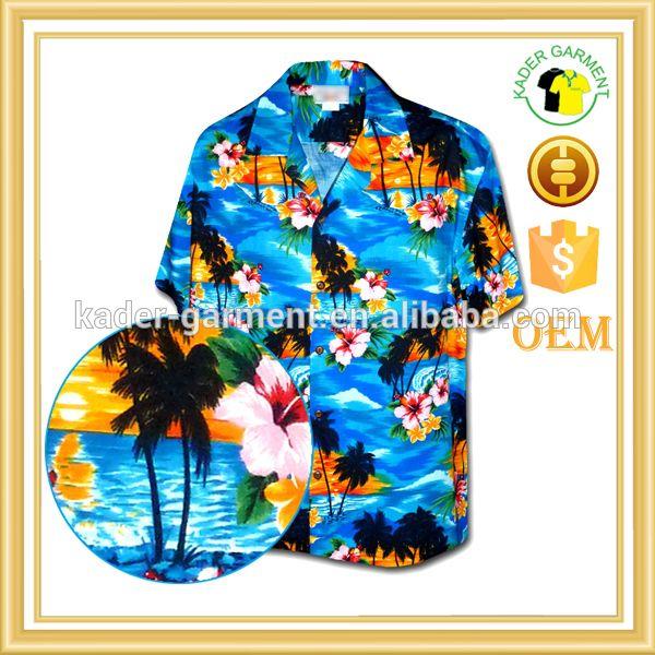 """Wholesale cheap custom printed hawaiian shirt, mens aloha shirt"""