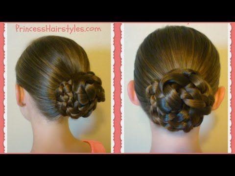 Easy Triple Braid Bun, Back To School Basic Hairstyles - YouTube