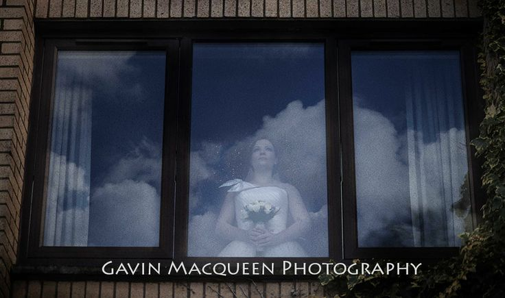 The Bride at the window.