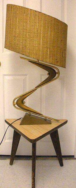 Mid century lamp crazy almost looks like a staircase find this pin and more on art deco to streamline moderne to mcm