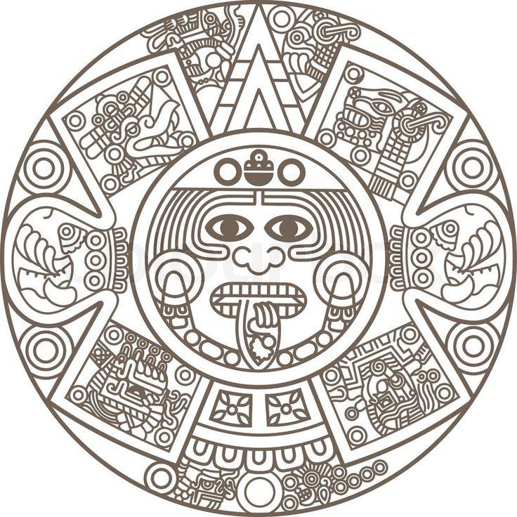 Calendar Drawing Design : Best aztec calendar ideas on pinterest tribal