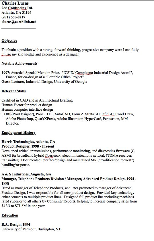 Example of Designer Resume - http\/\/resumesdesign\/example-of - architectural drafter resume