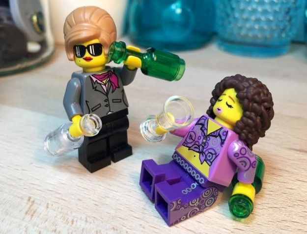 "A couple of Patsy and Edina Lego lookalikes that'll fly under Saffy's watchful radar. | 23 Gifts For People Who Love ""Absolutely Fabulous"""