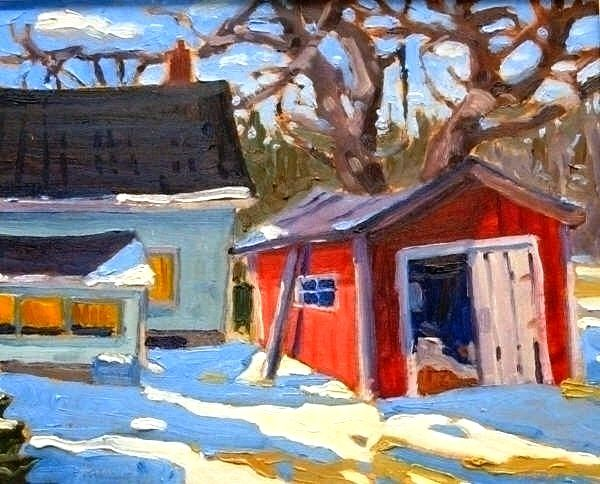 Painted Plein Air with 3 colours plus white and one brush. andrewhamiltonfineart.com