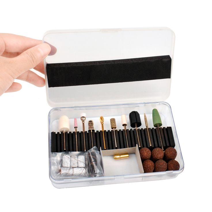 CkeyiN ®32 Stück Professionelle elektrische Maschine Maniküre Pediküre Werkzeuge Nagelbohrer & Schleifbänder Sets Kit