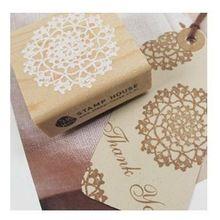 Trasporto libero fai da te in legno vintage classico fiore del merletto della decorazione francobolli per scrapbooking photo album(China (Mainland))