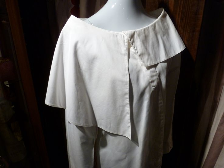 1980 Claude Montana Poet Shirt Space Age White Cotton Asymmetrical Drama Opera France by ZwiggyAustinVintage on Etsy