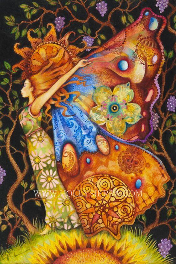 Psique la Diosa griega del Alma por HollySierraArt