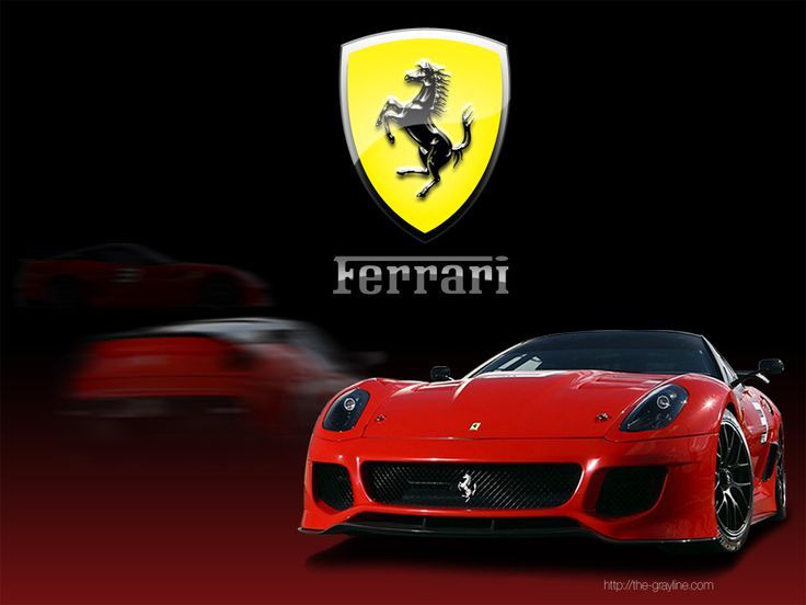 ferrari car and logo desktop wallpaper red