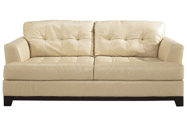Martin oyster sofa by ashley living room furniture for Plush living room furniture