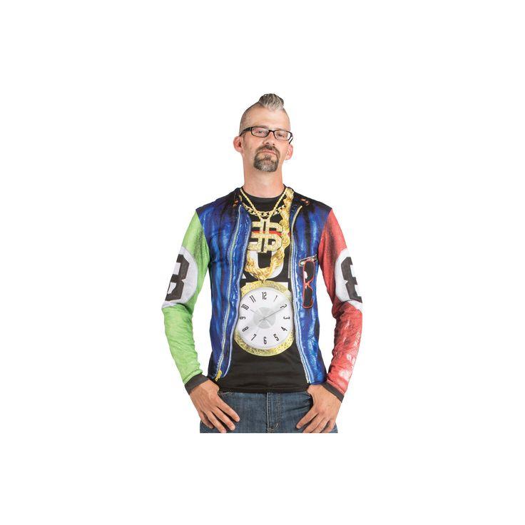 Halloween Men's Old School Rapper Costume Shirt - XX-Large, Size: Xxl, Multicolored