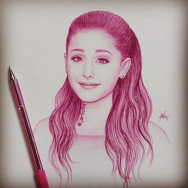 Drawing ariana grande google zoeken