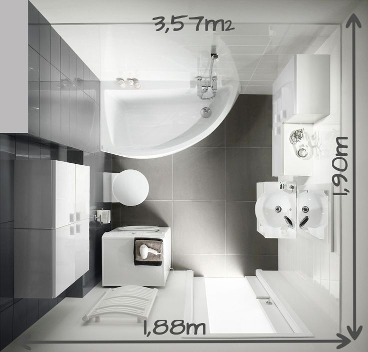 1000 ideas about salle de bain 4m2 on pinterest seche - Amenagement salle de bain 4m2 ...