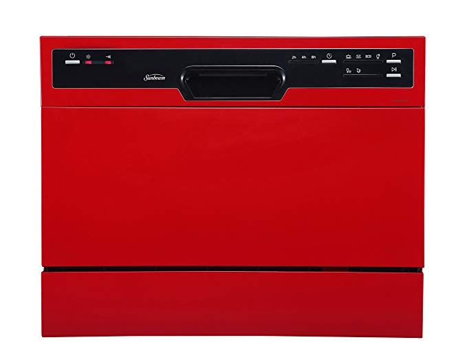 Sunbeam Dwsb3607rr Compact Countertop Dishwasher With Rinse Aid
