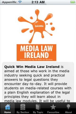 Quick Win Media Law Ireland iPhone and iPad app by Oak Tree Press. Genre: Business application. Price: $5.99. http://click.linksynergy.com/fs-bin/stat?id=gtf1QuAg8bk=146261=3=0=1826_PARM1=http%3A%2F%2Fitunes.apple.com%2Fapp%2Fquick-win-media-law-ireland%2Fid441766106%3Fuo%3D5%26partnerId%3D30
