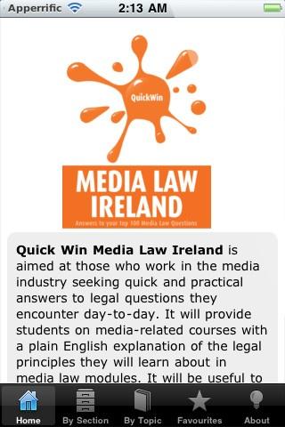Quick Win Media Law Ireland iPhone and iPad app by Oak Tree Press. Genre: Business application. Price: $5.99. http://click.linksynergy.com/fs-bin/stat?id=gtf1QuAg8bk=146261=3=0=1826_PARM1=http%3A%2F%2Fitunes.apple.com%2Fapp%2Fquick-win-media-law-ireland%2Fid441766106%3Fuo%3D5%26partnerId%3D30